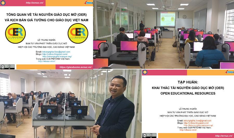Khóa bồi dưỡng 'Thực hành khai thác tài nguyên giáo dục mở' ở trường Đại học Hà Nội