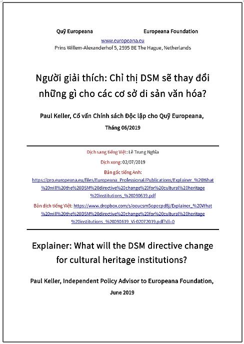 'Người giải thích: Chỉ thị DSM sẽ thay đổi những gì cho các cơ sở di sản văn hóa?' - bản dịch sang tiếng Việt