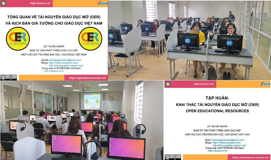 Khóa bồi dưỡng 'Thực hành khai thác tài nguyên giáo dục mở' ở trường Đại học Hà Nội, đợt 2