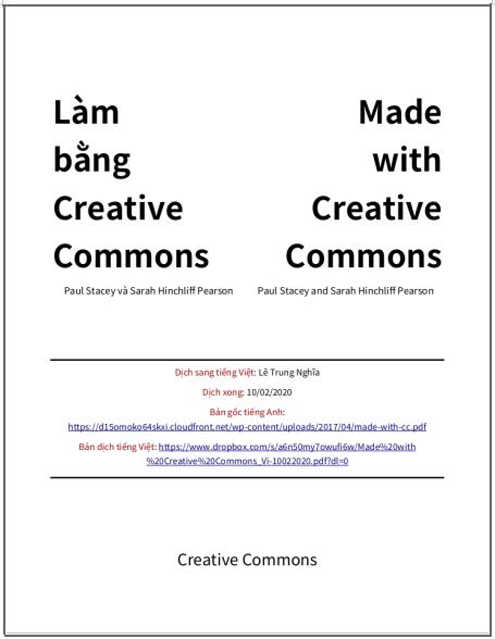 'Làm bằng Creative Commons' - bản dịch sang tiếng Việt