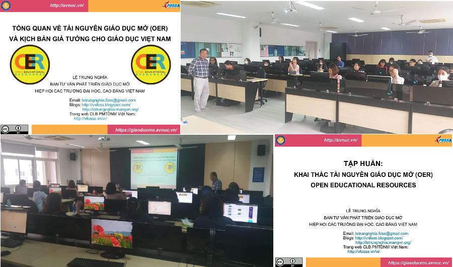 Khóa bồi dưỡng 'Thực hành khai thác tài nguyên giáo dục mở' ở trường Đại học Thăng Long