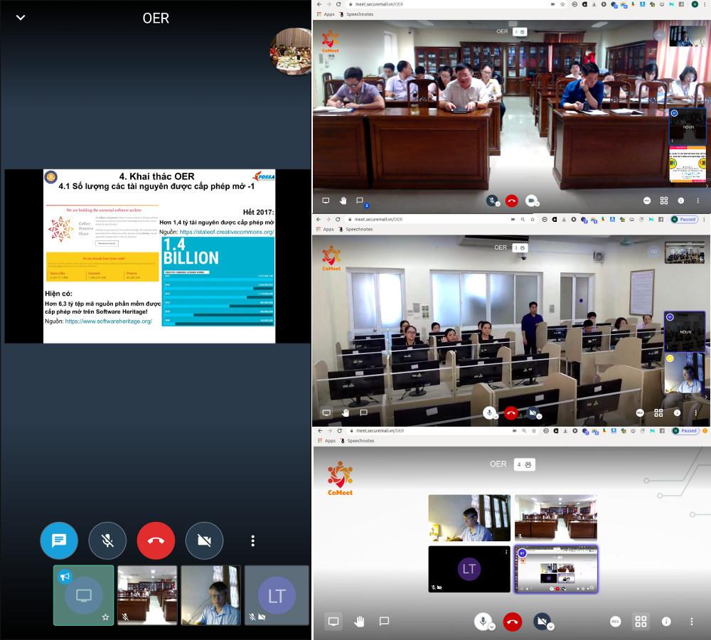Quang cảnh khóa thực hành khai thác OER ở ĐH Điều dưỡng Nam Định, 20-21/05/2020