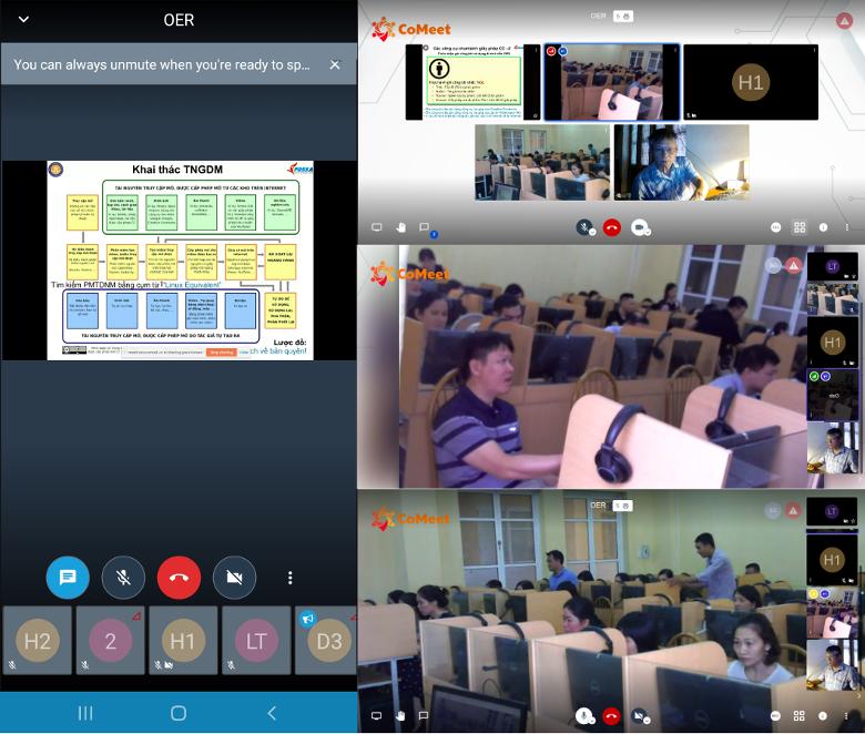 Quang cảnh khóa thực hành khai thác TNGDM ở ĐH Công nghiệp Dệt May Hà Nội, 04-05/07/2020