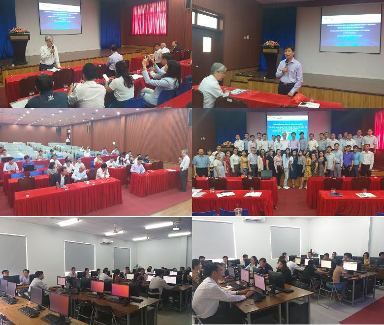 Khóa huấn luyện 'Thực hành khai thác tài nguyên giáo dục mở' ở trường Cao đẳng Công nghệ cao Đồng An, Bình Dương, 10-11-12/11/2020