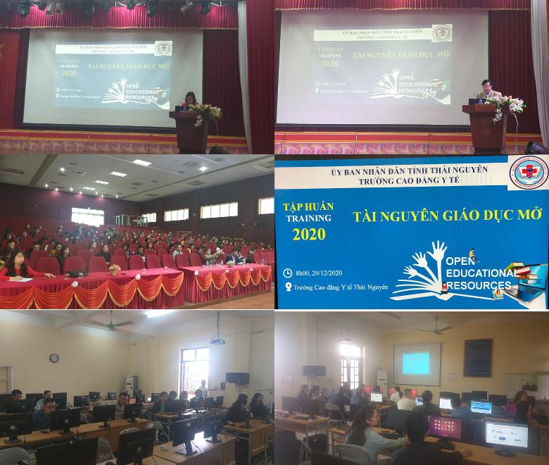 Khóa huấn luyện 'Thực hành khai thác tài nguyên giáo dục mở' ở trường Cao đẳng Y tế Thái Nguyên, 29-30/12/2020
