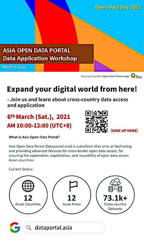 """Hội thảo """"Cổng Dữ liệu Mở châu Á - Ứng dụng Dữ liệu"""" của Đối tác Dữ liệu Mở châu Á (AODP) sẽ diễn ra vào ngày 06/03/2021"""